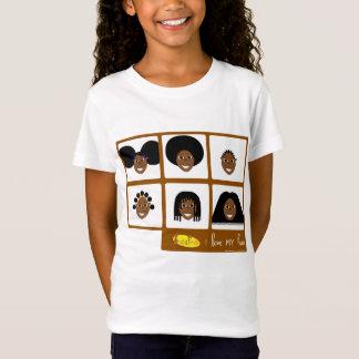 Fino eu amo meu t-shirt do cabelo camiseta