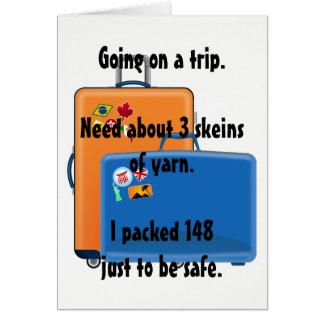 Fio, cartão, cartão de nota para knitters