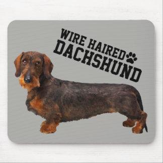Fio Dachshund de cabelo Mousepad ilustrado