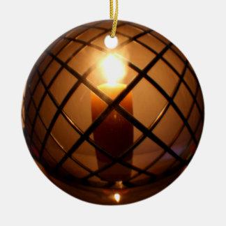 Fio e ornamento redondos da vela
