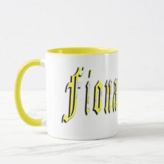 Fiona, nome, logotipo, caneca de café combinado