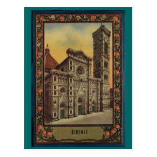 Firenze, Florença, capa do livro 1900   do cartão