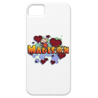 first name Madison shirts and products Capa Barely There Para iPhone 5