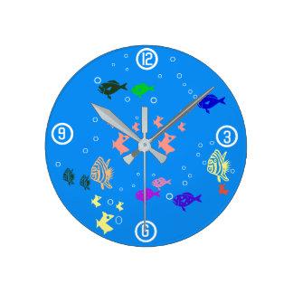 Fishbowl Relógio Redondo