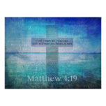 Fishers do 4:19 de Matthew do verso da bíblia dos  Posteres