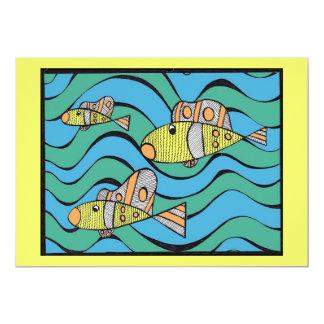 Fishers dos homens convite 12.7 x 17.78cm