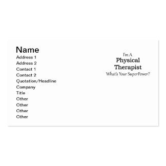 Fisioterapeuta Cartão De Visita