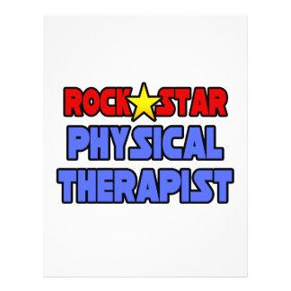 Fisioterapeuta da estrela do rock panfletos