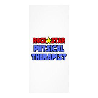 Fisioterapeuta da estrela do rock panfletos informativos personalizados