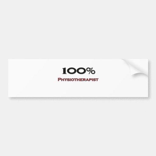 Fisioterapeuta de 100 por cento adesivos