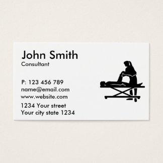Fisioterapeuta fêmea cartão de visitas