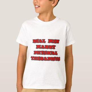 Fisioterapeutas reais do casado dos homens camiseta