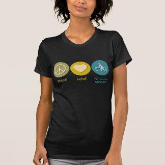 Fisioterapia do amor da paz t-shirts