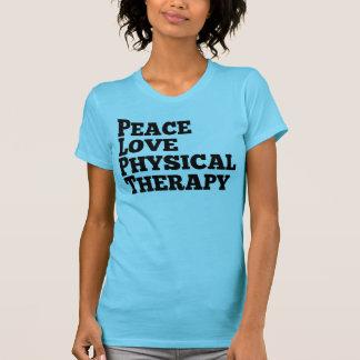 Fisioterapia do amor da paz tshirt