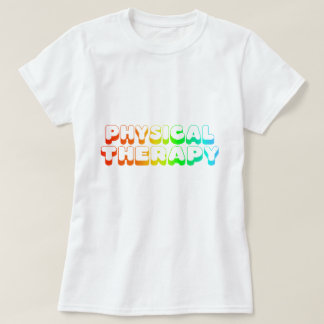 Fisioterapia do arco-íris camiseta