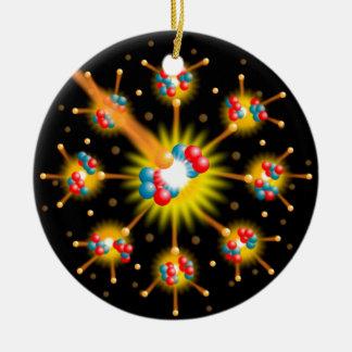 Fissão nuclear ornamento de cerâmica redondo