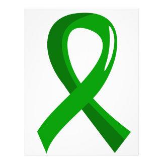 Fita 3 do verde da saúde mental panfletos personalizados