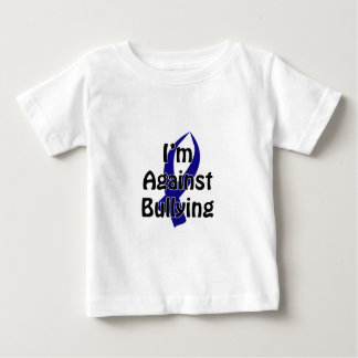 Fita azul Anti-Tiranizando Camiseta Para Bebê