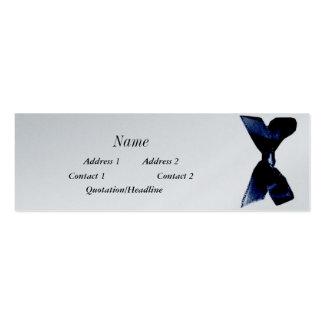 fita azul cartões de visitas