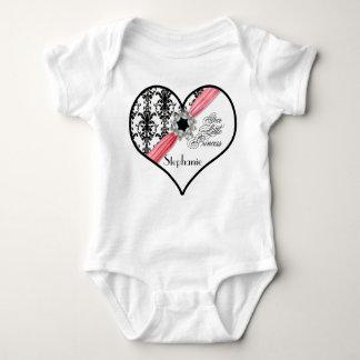 Fita branca do damasco do preto da curvatura da body para bebê