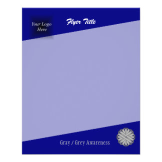 Fita cinzenta/cinzenta da flor flyer 11.43 x 14.22cm