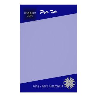 Fita cinzenta/cinzenta do trevo flyer 13.97 x 21.59cm