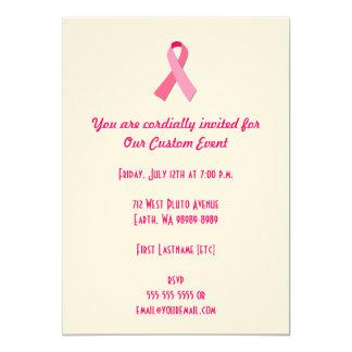 Fita cor-de-rosa convite 12.7 x 17.78cm