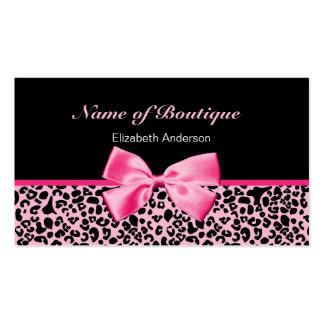 Fita cor-de-rosa e preta do boutique na moda do cartão de visita