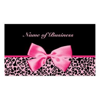 Fita cor-de-rosa e preta na moda do rosa quente do modelo cartões de visitas
