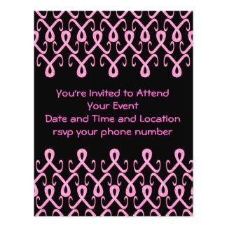Fita cor-de-rosa hoje panfleto personalizados
