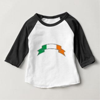 Fita da bandeira de Ireland Camiseta Para Bebê