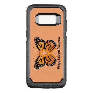 Fita da consciência da borboleta da esclerose capa OtterBox commuter para samsung galaxy s8