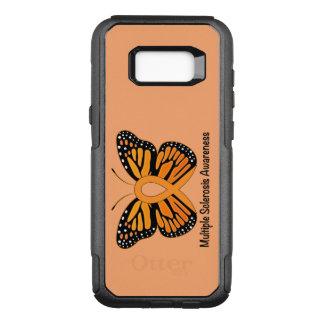 Fita da consciência da borboleta da esclerose capa OtterBox commuter para samsung galaxy s8+