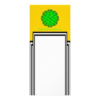 Fita da flor do verde limão 10.16 x 22.86cm panfleto