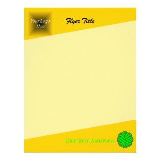 Fita da flor do verde limão flyer 21.59 x 27.94cm