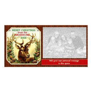 Fita da rena do Feliz Natal personalizada Cartão Com Foto