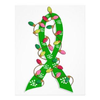 Fita das luzes de Natal da consciência da saúde me Modelo De Panfleto