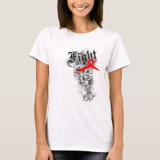 Fita do AIDS da luta - a camisa das mulheres