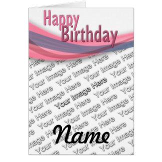 Fita do aniversário cartão comemorativo