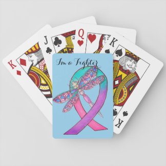 Fita do cancer de tiróide jogo de baralho