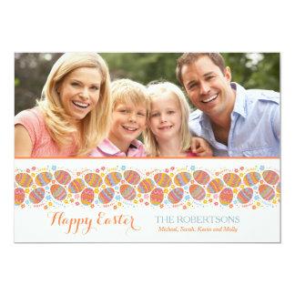 Fita do cartão com fotos dos ovos da páscoa convites