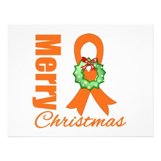 Fita do Feliz Natal da consciência da leucemia Panfletos Personalizado