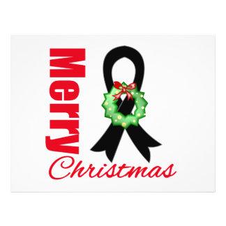 Fita do Feliz Natal da consciência da melanoma Panfletos Coloridos