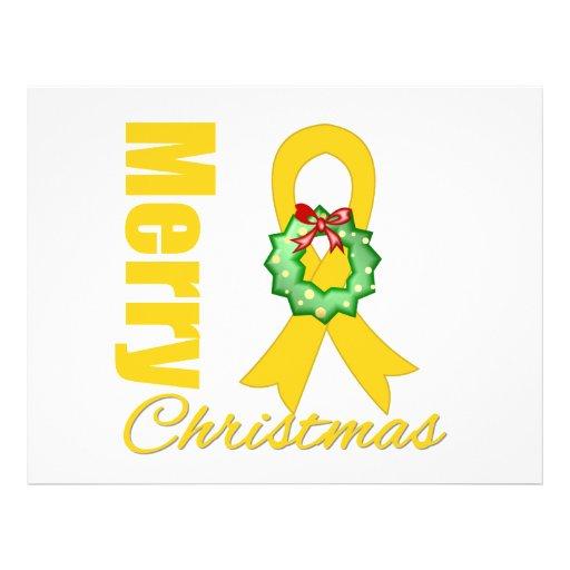 Fita do Feliz Natal da consciência do cancer da in Panfletos Coloridos
