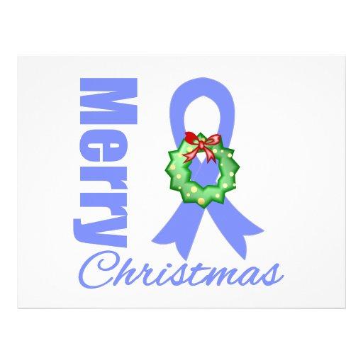 Fita do Feliz Natal da consciência do cancer de es Panfletos Personalizado
