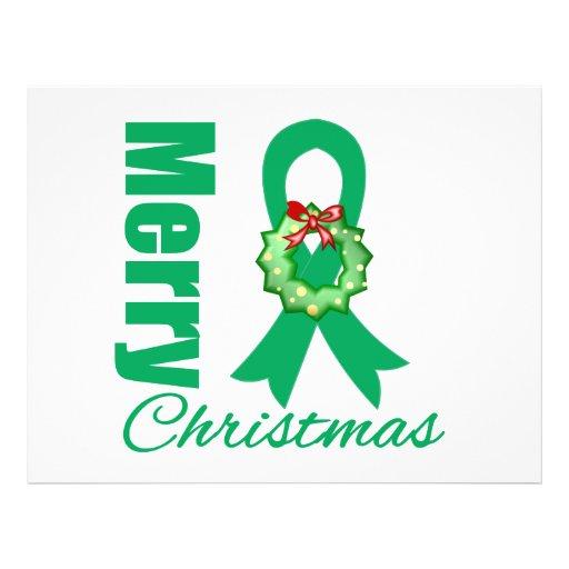 Fita do Feliz Natal da consciência do câncer de fi Panfletos Personalizados