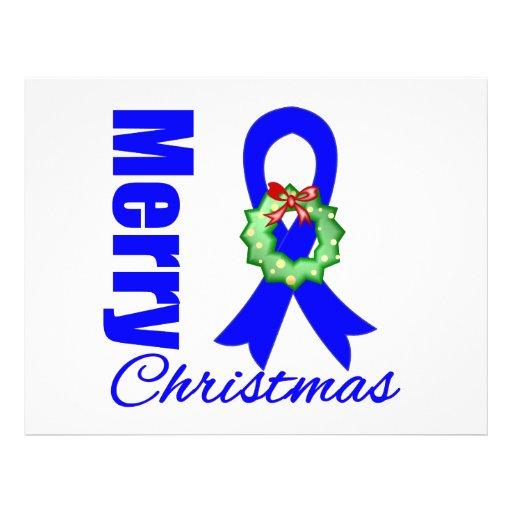 Fita do Feliz Natal da consciência do cancro do có Panfletos Personalizados