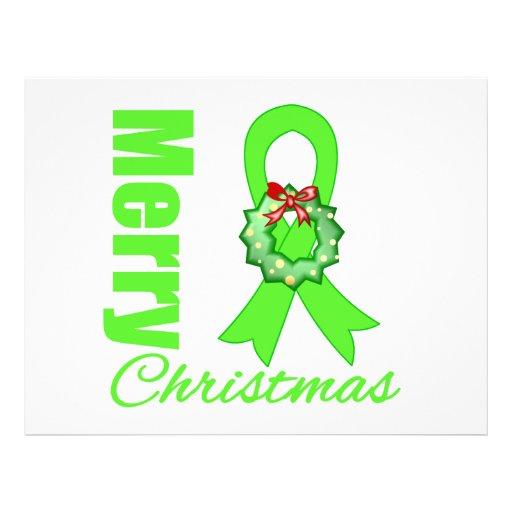 Fita do Feliz Natal da consciência do linfoma Panfleto Coloridos