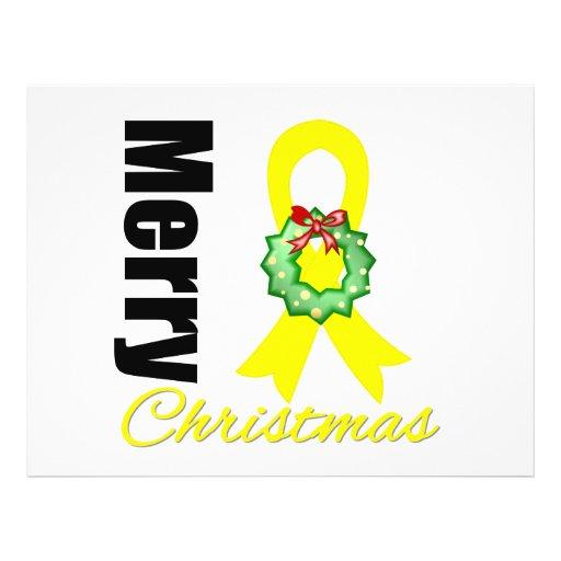 Fita do Feliz Natal da consciência do Sarcoma Panfletos