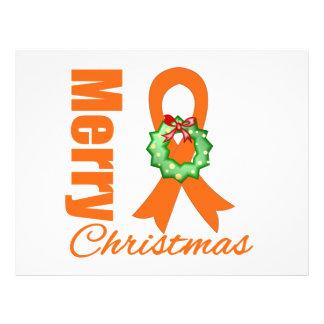 Fita do Feliz Natal do cancer de rim Panfleto Personalizados